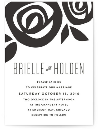 Flora Grande Wedding Invitations