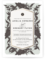 Sophisticated Floral Wedding Invitations