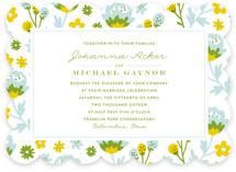 Springtime Florals Wedding Invitations