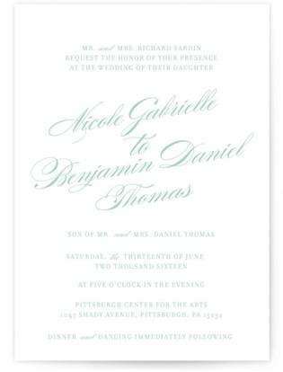 The Ritz Wedding Invitations