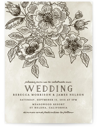 Wedding Etching Wedding Invitations