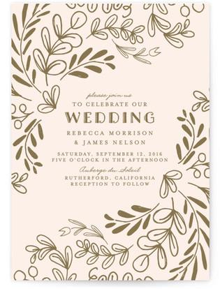 Wedding Vines Wedding Invitations