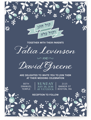 Joy & Happiness Wedding Invitations