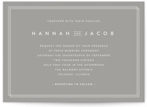 Elegantly Framed Wedding Invitations