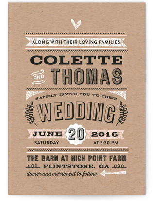 Romance Rustique Wedding Invitations