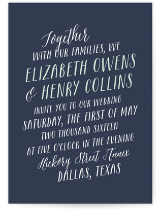 Duet Wedding Invitations