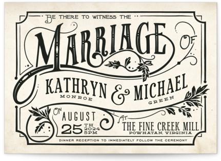 Inked Wedding Invitations