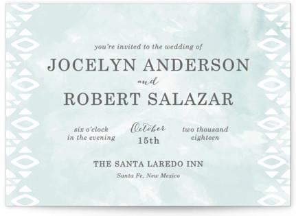 Desert Oasis Wedding Invitations