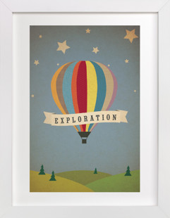Exploration Destination Children's Custom Art Print