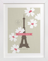 Spring Time in Paris Children's Custom Art Print