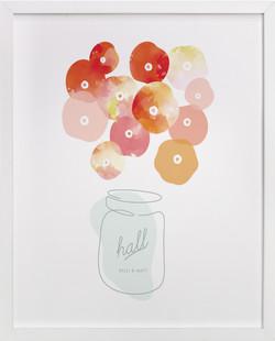Summer Picked Poppies Children's Custom Art Print