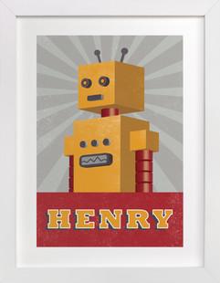 Vintage Bot Children's Custom Art Print