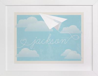 In Flight Children's Custom Art Print