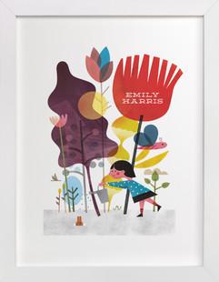 Colorful Garden Children's Custom Art Print
