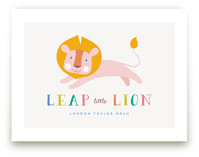 Leap Little Lion by A Real Peach Studio