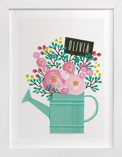 Little Gardener Children's Custom Art Print