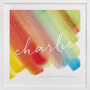 Color Bands Children's Custom Art Print