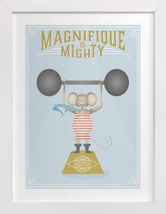 Magnifigue Circus Mouse Children's Custom Art Print