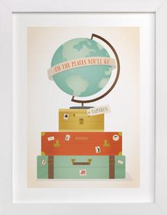 Oh the Places Children's Custom Art Print