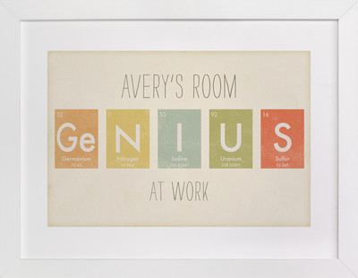 Elemental Series Genius Children's Custom Art Print