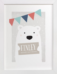 Polar Bear Children's Custom Art Print