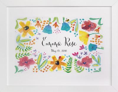 Bloom And Grow Children's Custom Art Print
