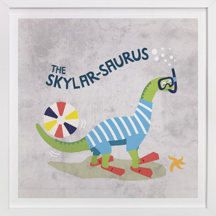 Splash-o-saurus Children's Custom Art Print
