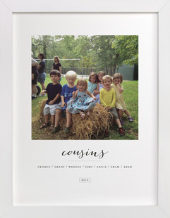 Cousins Children's Custom Photo Art Print