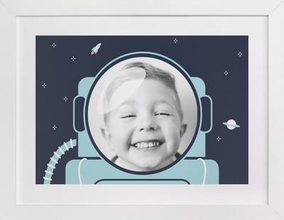Our little astronaut (photo) Children's Custom Photo Art Print