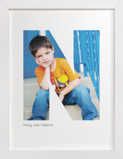 N - Within Letters of You Children's Custom Photo Art Print