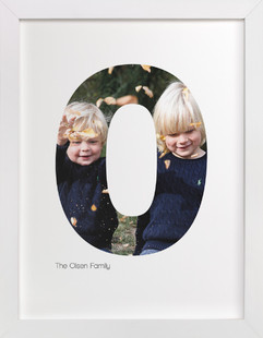 O - Within Letters of You Children's Custom Photo Art Print