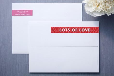 Hug and Kiss Skinnywrap™ Address Labels