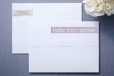 Lilac Buttercream Skinnywrap™ Address Labels