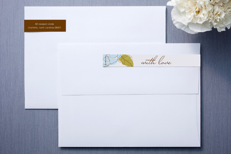 White and Chocolate Skinnywrap™ Address Labels