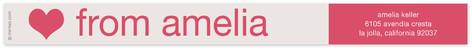 Cream and Fuchsia Skinnywrap Address Labels