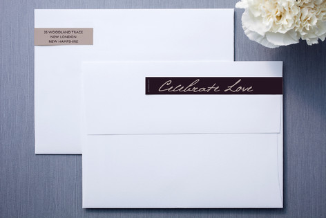 Midnight Lilac Skinnywrap™ Address Labels