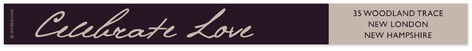 Midnight Lilac Skinnywrap Address Labels