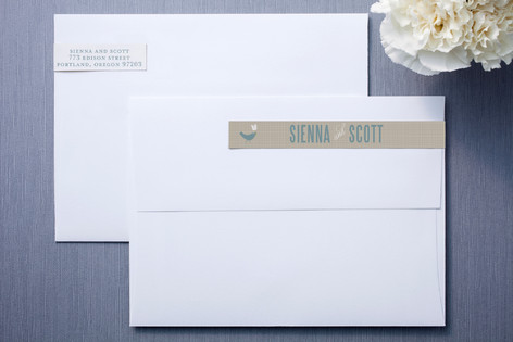 SWEET LINEN Skinnywrap™ Address Labels