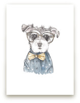 Snazzy Schnauzer Mixed... by Lauren Rogoff