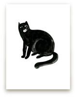 Graphic cat by Alexandra Dzh