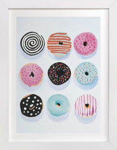 Pop Donuts Children's Art Print
