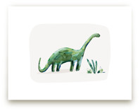 brave brontosaurus by Kayla King