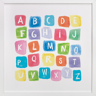 ABC squares Children's Art Print