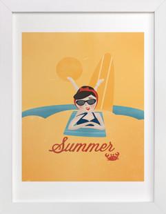 Sun and Surf Children's Art Print