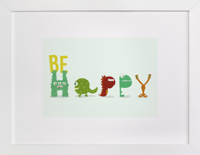 Happy Monster Children's Art Print