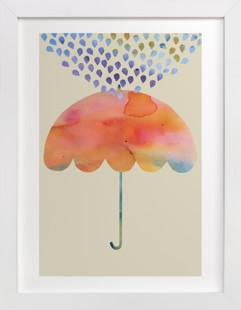 Rainbow Umbrella Children's Art Print