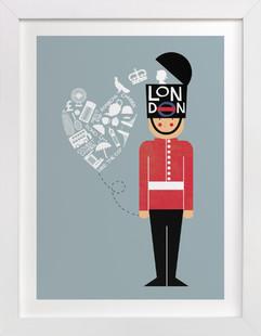 I Left My Heart In London Children's Art Print