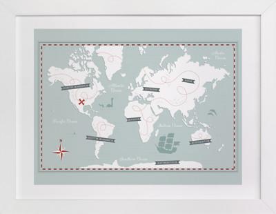 Treasure Map Children's Art Print
