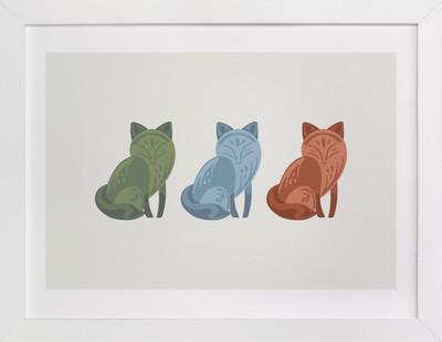 Mod Foxes Children's Art Print