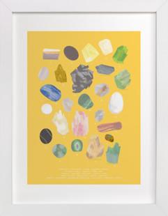 ABC Rocks Children's Art Print